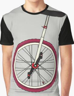 Unicycle By Wall Graphic T-Shirt