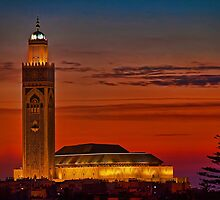 Morocco. Casablanca. Hassan II Mosque. Sunset. by vadim19