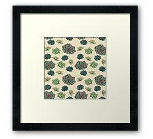 Tiling Texture - Succulent  Framed Print