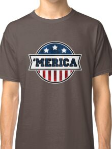 'MERICA T-Shirt. America. Jesus. Freedom. - The Campaign Classic T-Shirt