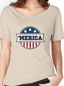 'MERICA T-Shirt. America. Jesus. Freedom. - The Campaign Women's Relaxed Fit T-Shirt