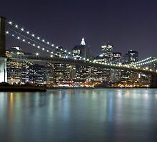 Brooklyn Bridge at Night Panorama 5 by BlackRussian