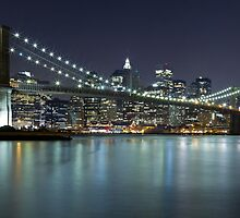 Brooklyn Bridge at Night Panorama 7 by BlackRussian