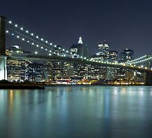 Brooklyn Bridge at Night Panorama 8 by BlackRussian
