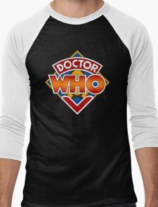 Classic Doctor Who Diamond Logo. Men's Baseball ¾ T-Shirt