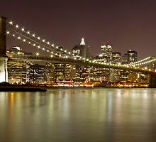 Brooklyn Bridge at Night Panorama 9 by BlackRussian