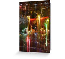 Light mesh 5: Christmas lights overflowing Greeting Card