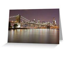 Brooklyn Bridge at Night 1 Greeting Card