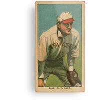 Benjamin K Edwards Collection Neal Ball New York Highlanders baseball card portrait Metal Print
