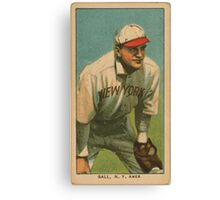 Benjamin K Edwards Collection Neal Ball New York Highlanders baseball card portrait Canvas Print