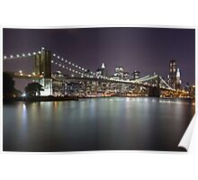 Brooklyn Bridge at Night 2 Poster