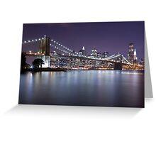 Brooklyn Bridge at Night 3 Greeting Card