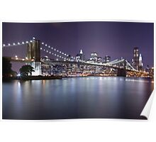 Brooklyn Bridge at Night 3 Poster