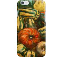 Still life with colorful pumpkins iPhone Case/Skin