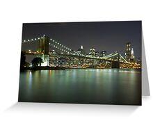 Brooklyn Bridge at Night 4 Greeting Card