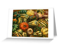 Still life with colorful pumpkins Greeting Card