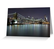 Brooklyn Bridge at Night 5 Greeting Card