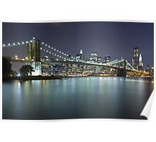 Brooklyn Bridge at Night 7 Poster