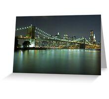 Brooklyn Bridge at Night 8 Greeting Card