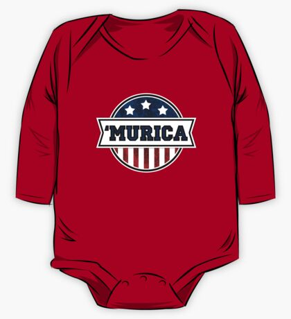 'MURICA T-Shirt. America. Jesus. Freedom. - The Campaign One Piece - Long Sleeve