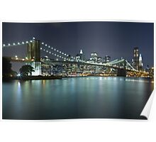 Brooklyn Bridge at Night 9 Poster