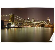 Brooklyn Bridge at Night 10 Poster