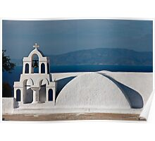 Bells, Arches, And Shapes Of Oia Poster