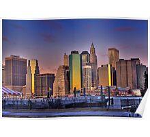 Downtown Manhattan at Sunrise Poster