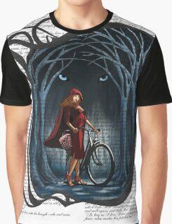 Art Nouveau RED RIDING HOOD Graphic T-Shirt