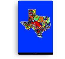 TEXAS STATE, Colorful Texas State cities, Fun Texas State icons, Texas State facts and everything about TEXAS State and Texas art Canvas Print