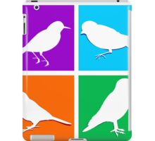 Colorful bird icons iPad Case/Skin