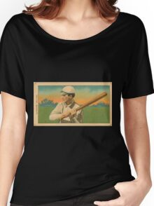 Benjamin K Edwards Collection Harry Pattee Brooklyn Superbas baseball card portrait Women's Relaxed Fit T-Shirt