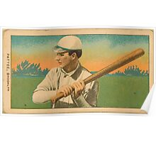 Benjamin K Edwards Collection Harry Pattee Brooklyn Superbas baseball card portrait Poster