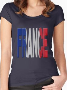France flag Women's Fitted Scoop T-Shirt