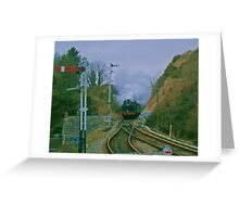 6695 at Corfe Castle Greeting Card