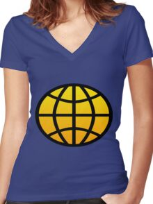 Captain Planet - Planeteers Women's Fitted V-Neck T-Shirt