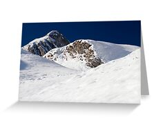Winter in the Alps Greeting Card
