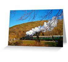 Steam on Swanage Railway Greeting Card