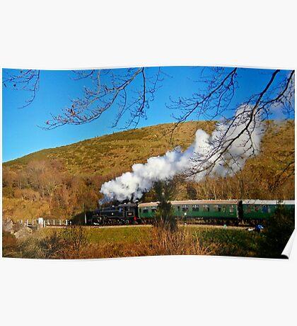 Steam on Swanage Railway Poster