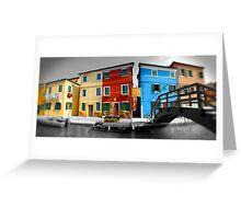 Burano, Venice Italy - 1 Greeting Card