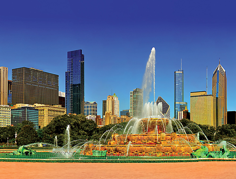 Chicago - Buckingham Fountain by Steve Ivanov