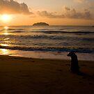 Sunrise dog by Philip Alexander