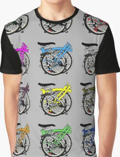 Brompton Bicycle Folded Graphic T-Shirt