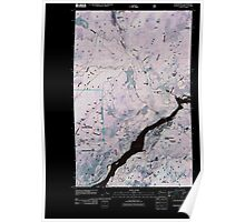 USGS Topo Map Washington State WA Northport 20110428 TM Inverted Poster
