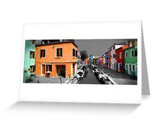 Burano, Venice Italy - 4 Greeting Card