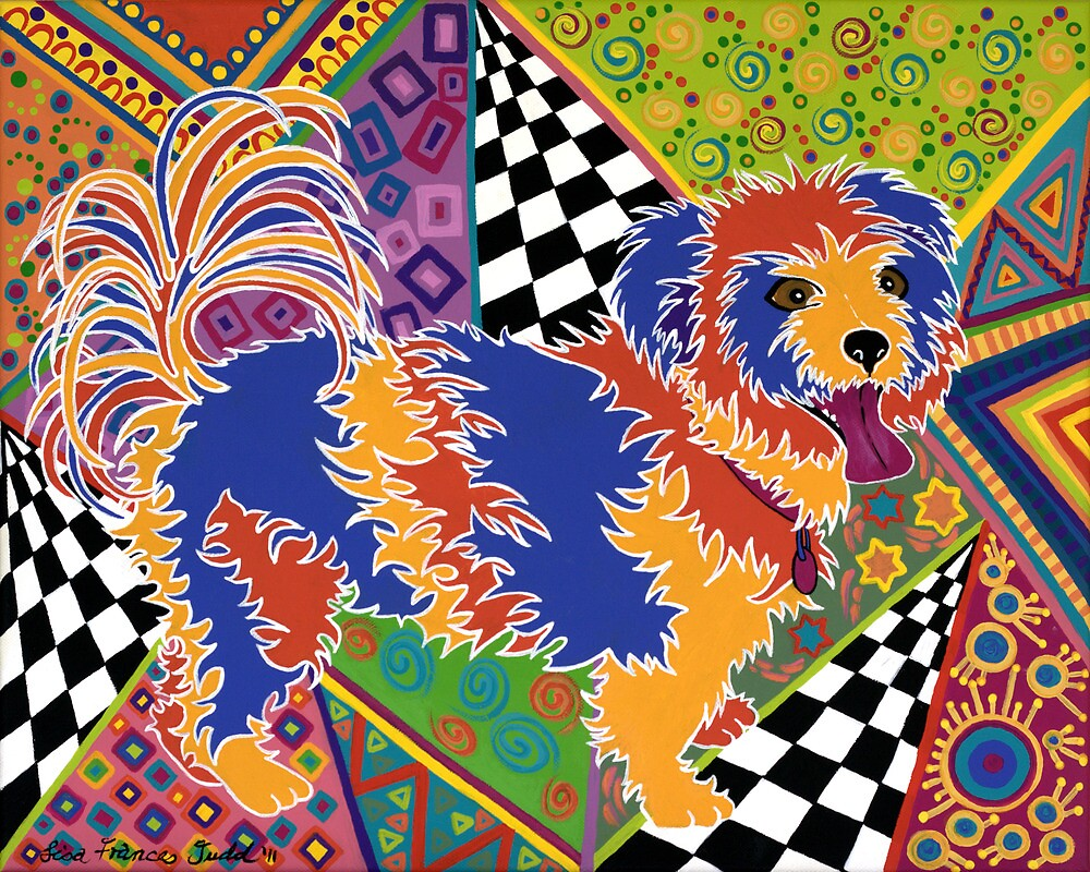 POP ART DOG - Doggie portrait with a difference! by Lisa Frances Judd~QuirkyHappyArt