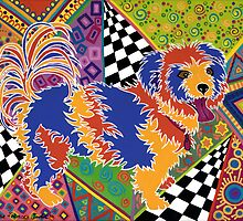POP ART DOG - Doggie portrait with a difference! by Lisa Frances Judd ~ QuirkyHappyArt