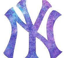 New York Yankees Watercolor Logo by Jacob Sorokin