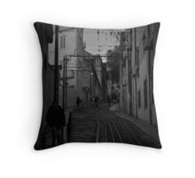 Dark Lisbon Throw Pillow