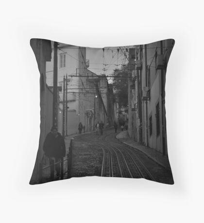 Dark Lisbon Throw Pillow